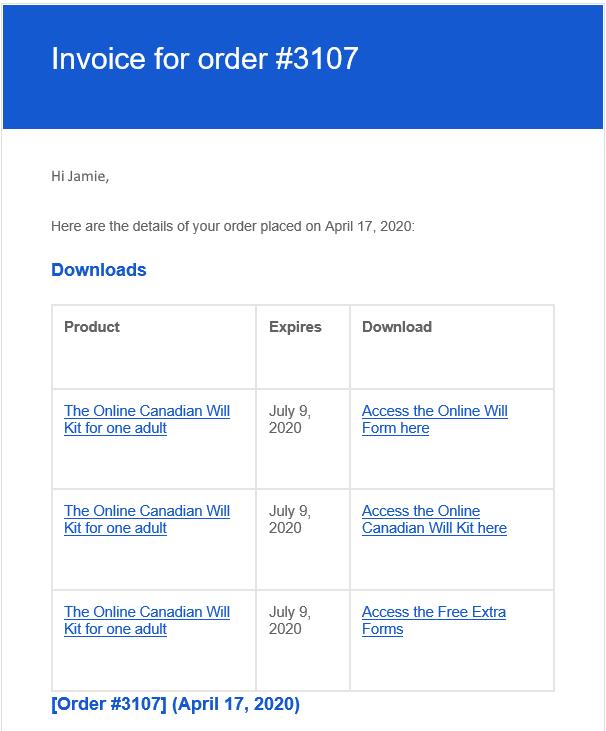 order confirmation sample image